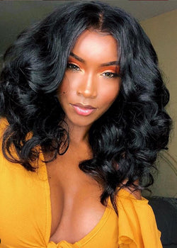 Lace Front Cap Human Hair Body Wave Women 120% Wigs