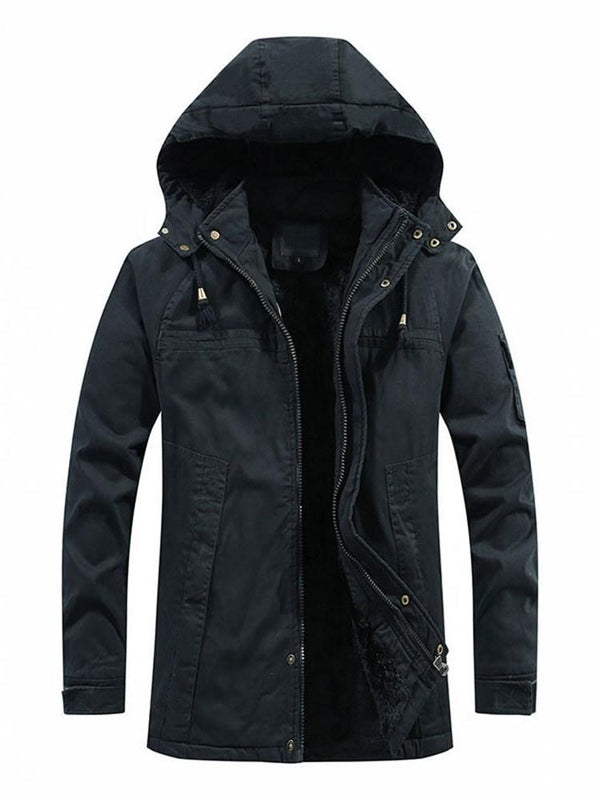 Hooded Zipper Mid-Length Zipper European Down Jacket