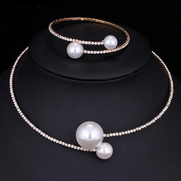 Romantic Plain Necklace Gift Jewelry Sets