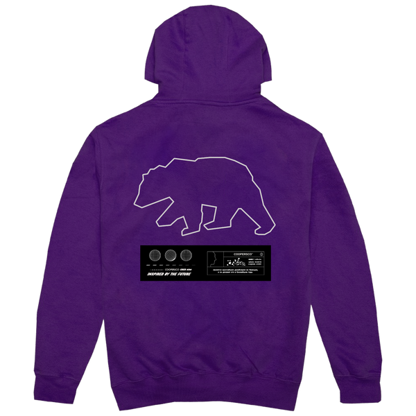 "Hoodie création n°9 ""The future"" Purple"
