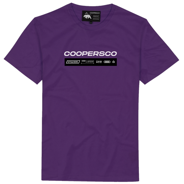 "Tee-shirt création n°9 ""The future"" Purple"
