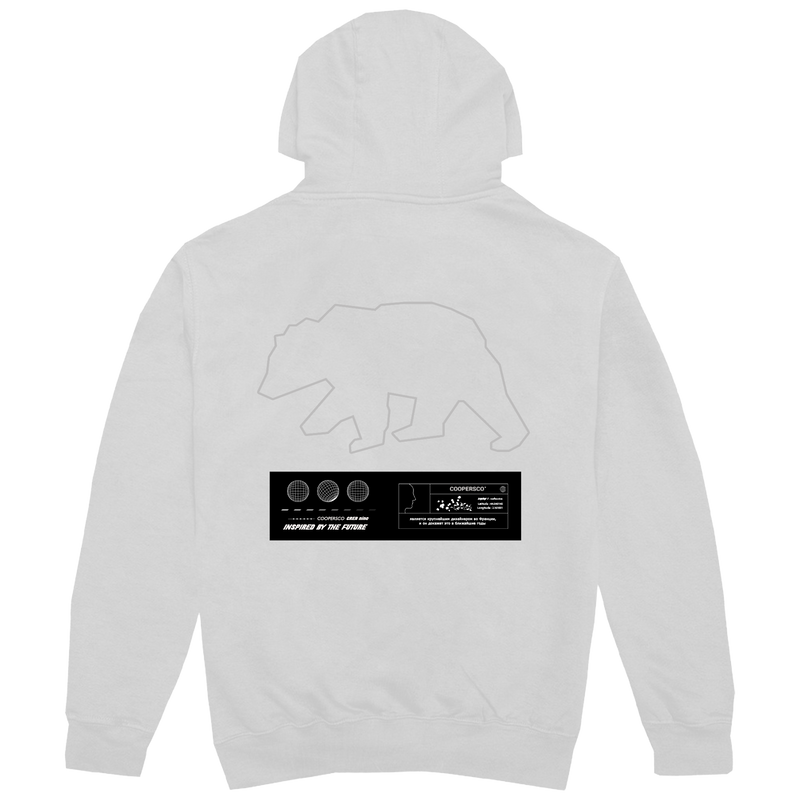 "Hoodie création n°9 ""The future"" Blanc"