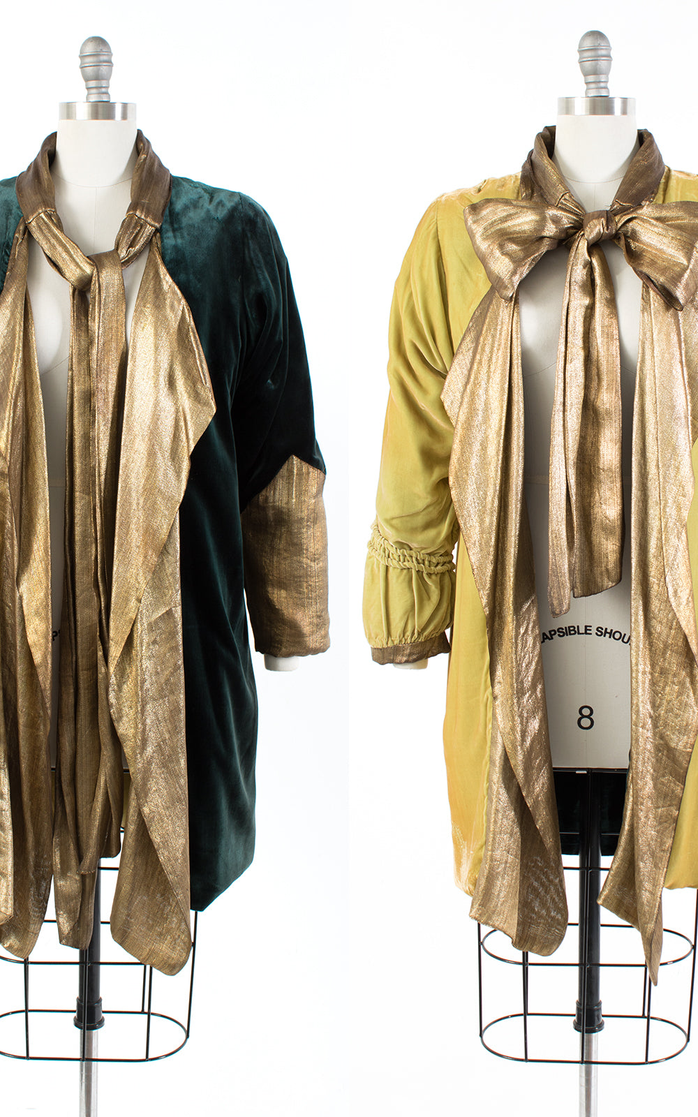 1920s Reversible Gold Lamé & Silk Velvet Coat | small/medium