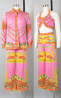 ♦ SOLD ♦ 1970s Paganne Pop Art Novelty Print Three-Piece Set | small