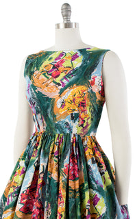 1950s Spanish Flamenco Novelty Print Sundress | small