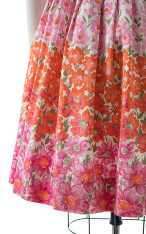 1950s Cole of California Floral Smocked Sundress