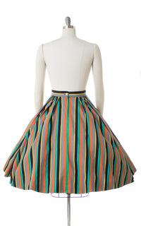 1950s O-Rings Striped Circle Skirt