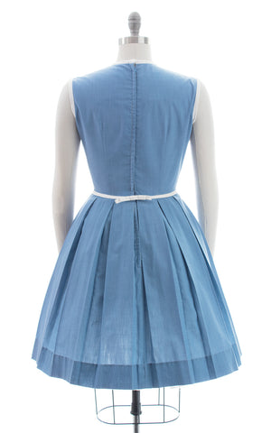 1950s Blue Cotton Sundress