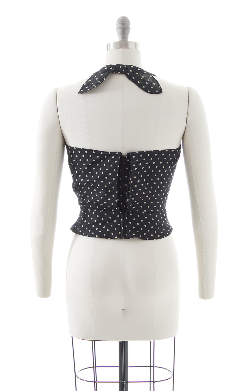 1970s Polka Dot Halter Top BirthdayLifeVintage