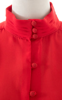1980s Sheer Red Blouse BirthdayLifeVintage