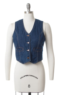1970s Cropped Denim Vest
