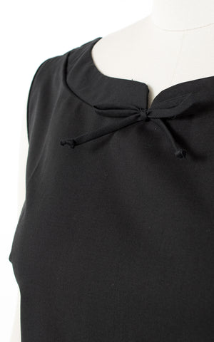 ♦ SOLD ♦ 1960s Deadstock Black Cotton Blend Top | small