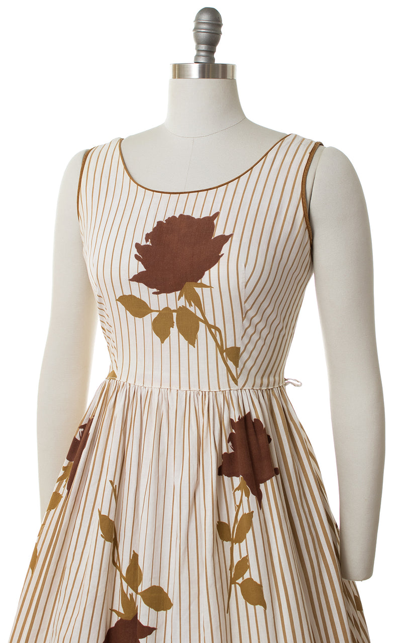1950s Roses & Stripes Sundress