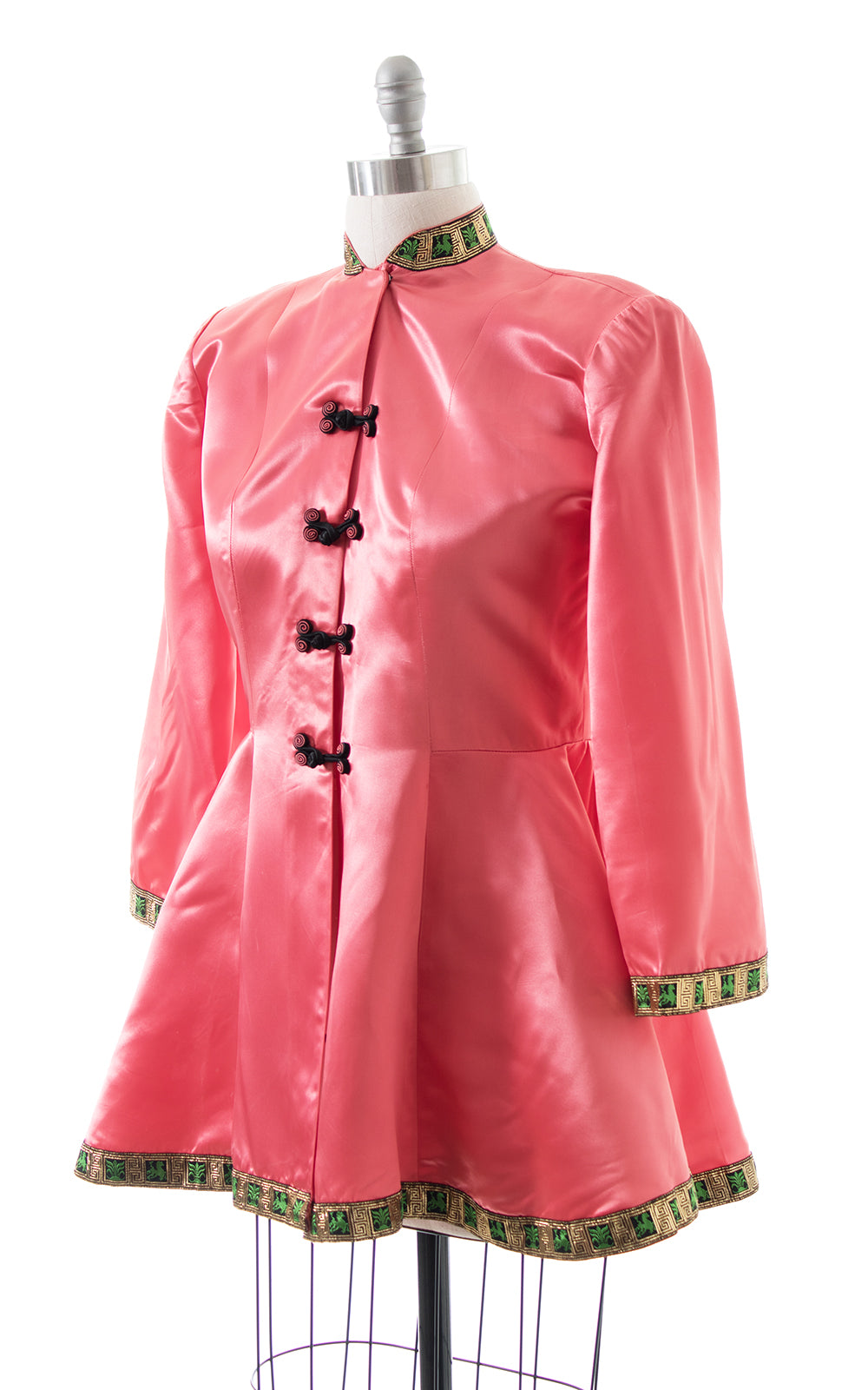 1940s Pink Satin Wide Sleeve Loungewear Jacket