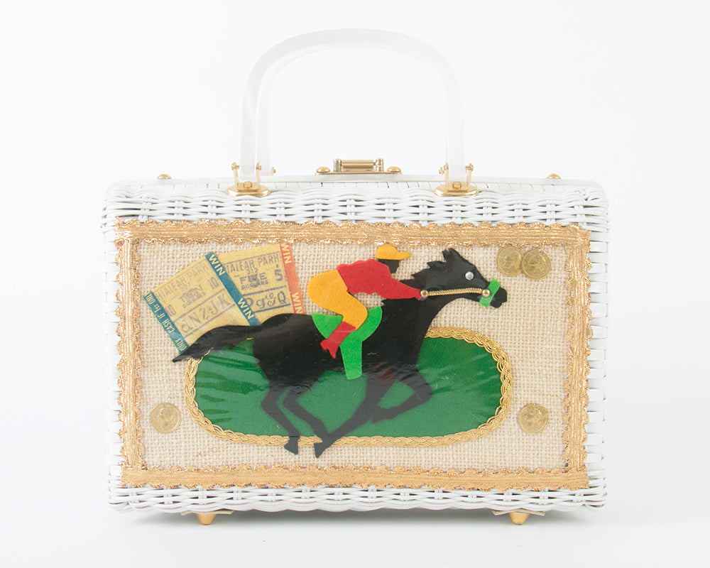 1960s Horse Racing Novelty Box Purse by Atlas