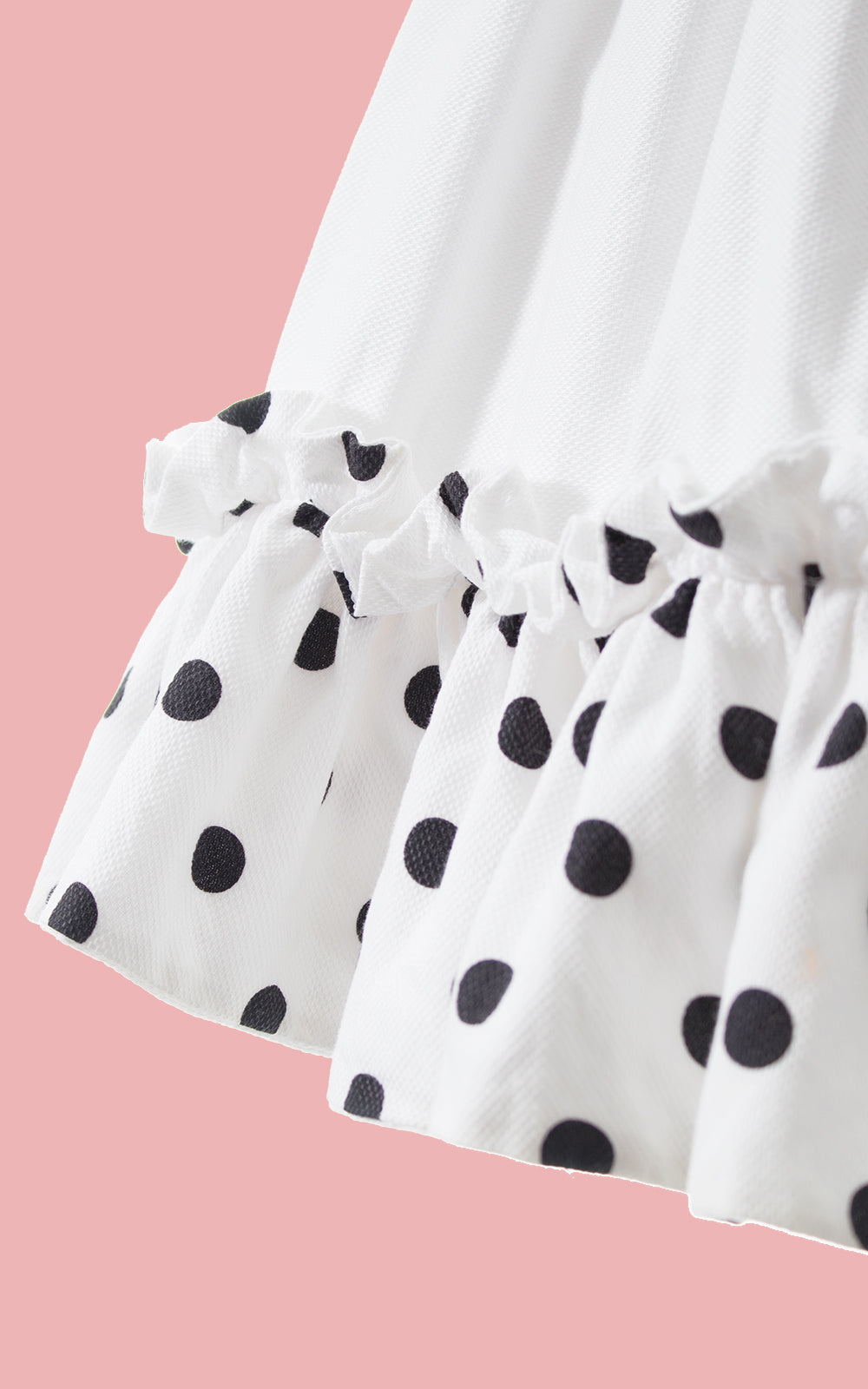 1950s Polka Dot Ruffled Cotton Sundress