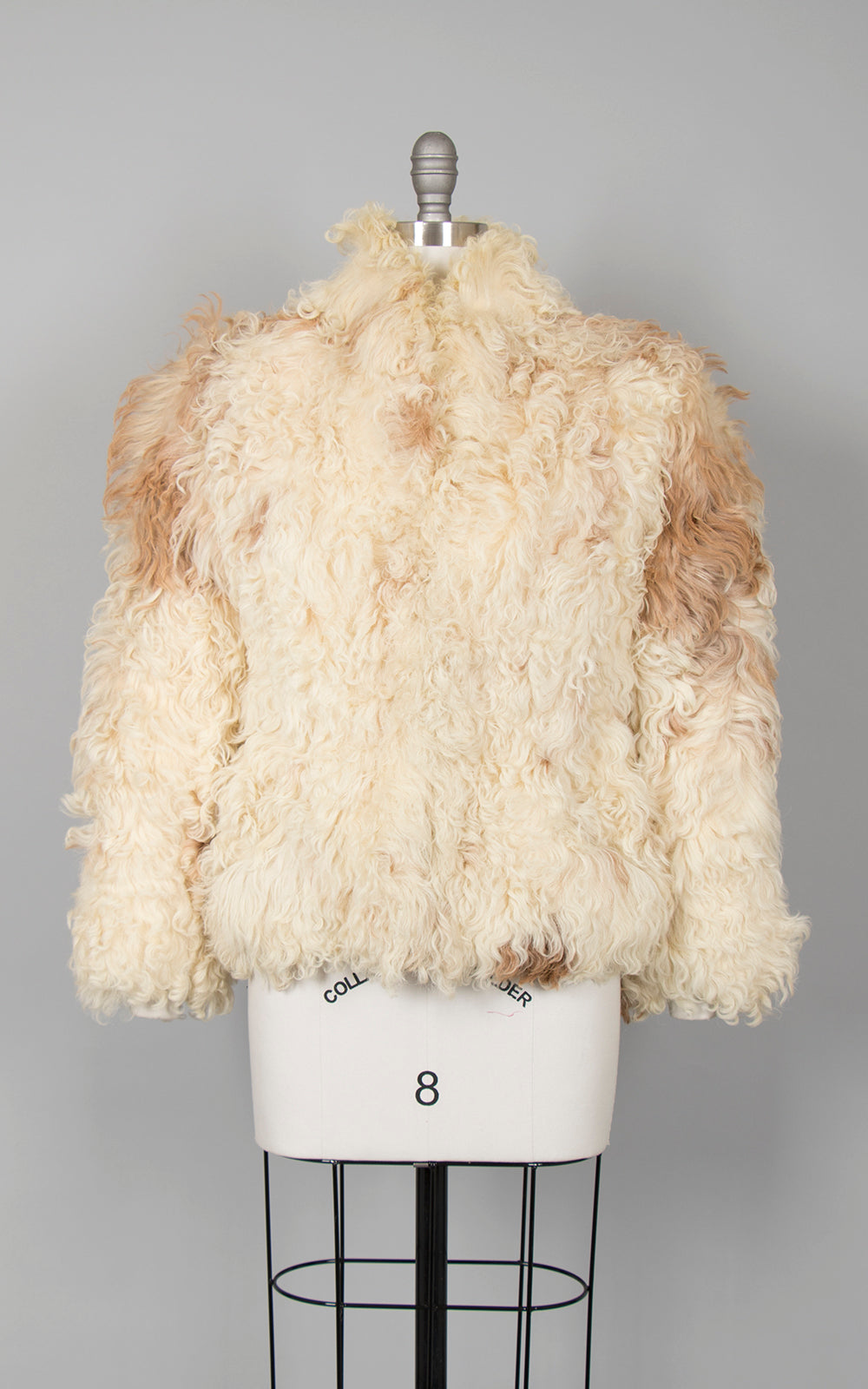 1970s Shaggy Mongolian Lamb Fur Coat | small