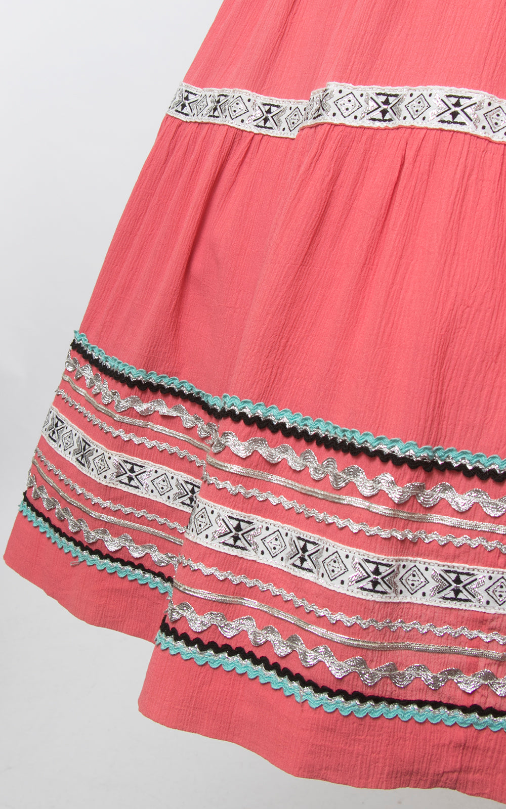 1950s Pink Ric Rac Patio Circle Skirt | small