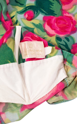 1950s Rose Marie Reid Rose Printed Swimsuit | small/medium