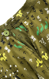 1950s Scarecrow Novelty Print Circle Skirt BirthdayLifeVintage