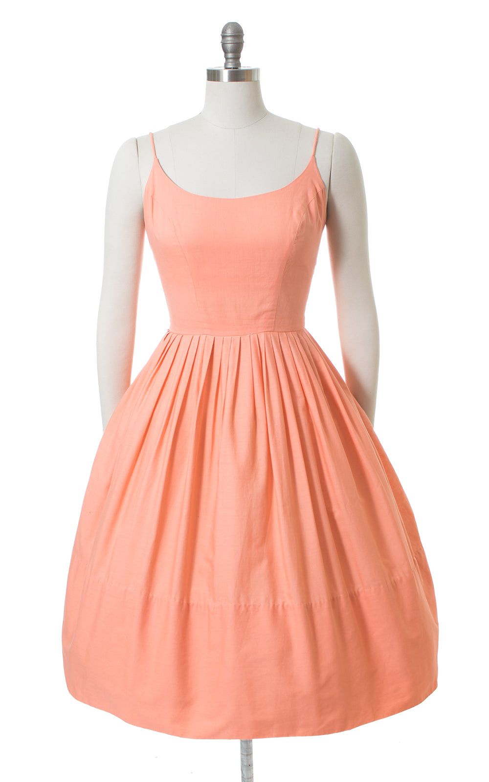 1950s Frederick's of Hollywood Peach Cotton Sundress