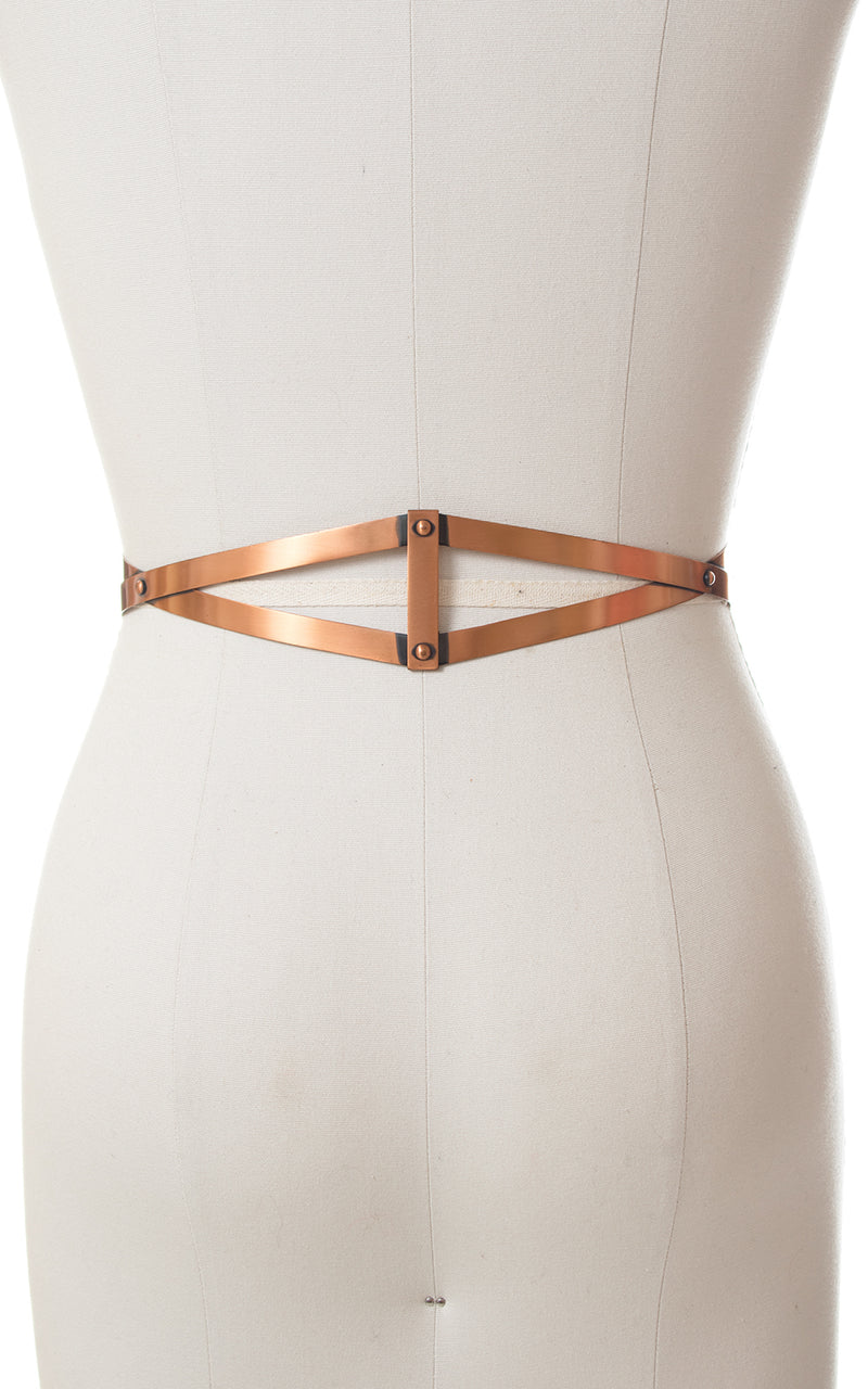 1950s Renoir Geometric Copper Cinch Belt