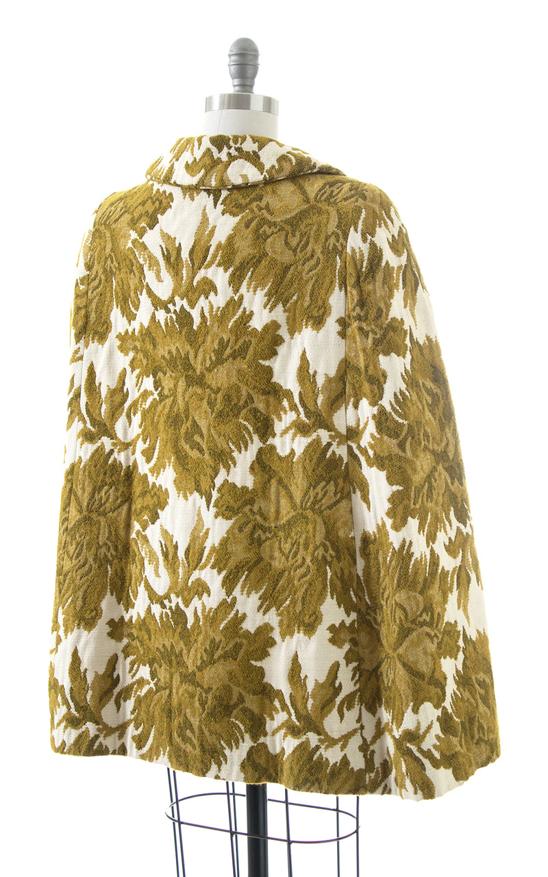 SOLD || 1970s Floral Brocade Cape | x-small/small/medium