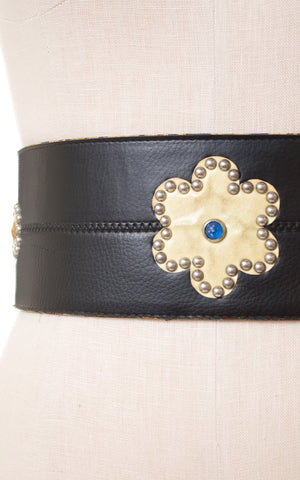 1960s Studded Vinyl Extra-Wide Motorcycle Belt