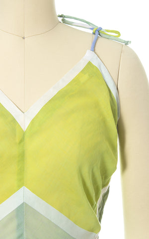 1950s Color Block Cotton Voile Sundress & Bolero Set