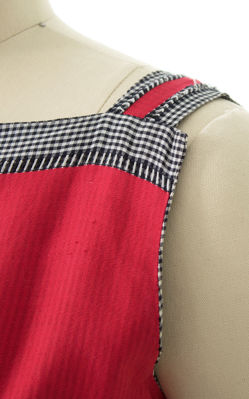 1950s Striped Gingham Cotton Sundress