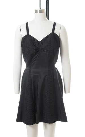 1950s Catalina Black Skirted Swimsuit