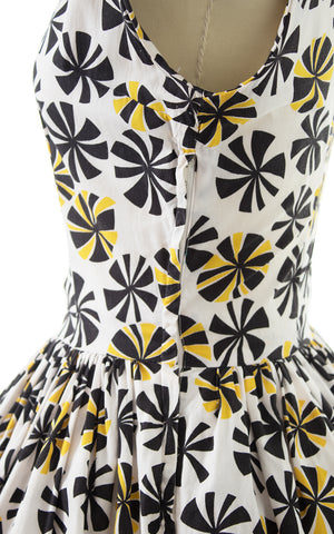 1950s Beach Ball Polka Dot Cotton Sundress