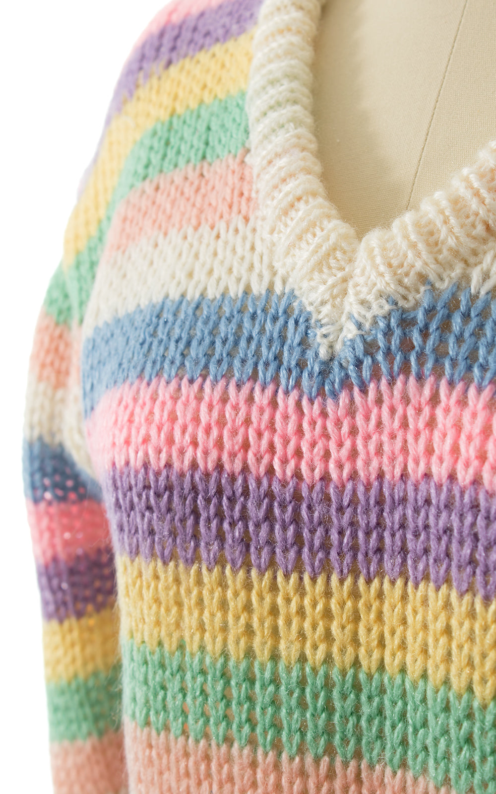 1970s 1980s Pastel Striped Sweater BirthdayLifeVintage