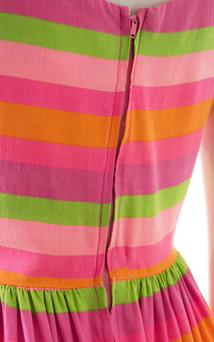 1960s Striped Cotton Palazzo Jumpsuit