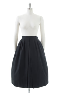 1970s 1980s SAINT LAURENT Wool Skirt with Pockets | small