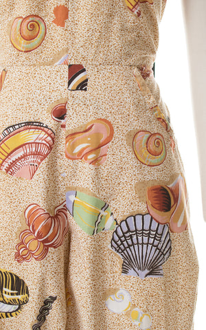 1970s Seashell Novelty Print Jumpsuit