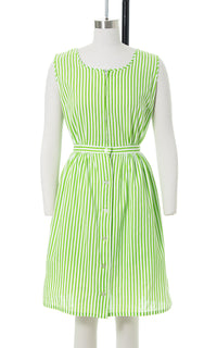1940s 1950s Striped Cotton Romper & Skirt Playsuit