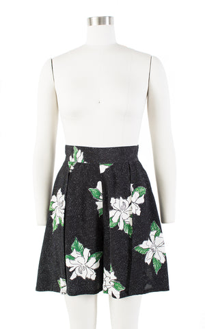 $50 & UNDER SALE || 1930s Style Floral Rayon Shorts with Slits | x-small