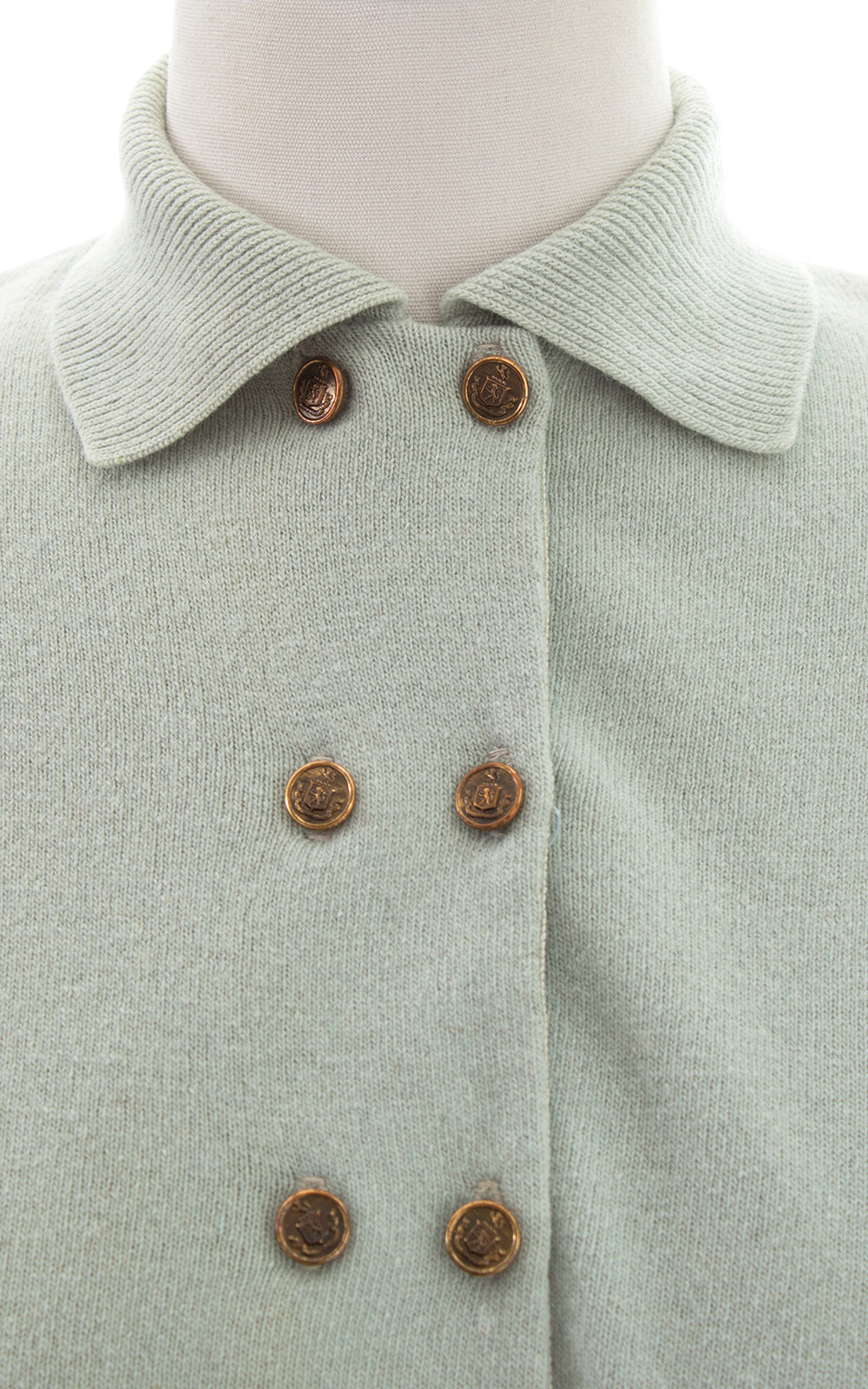 1950s Mint Wool-Angora Knit Cardigan