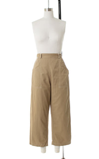 1950s Khaki High Waist Capri Pants