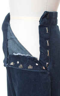 1950s Style High Waisted Denim Jeans