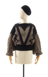 1980s Chunky Knit Sweater with Drama Mama Sleeves BirthdayLifeVintage