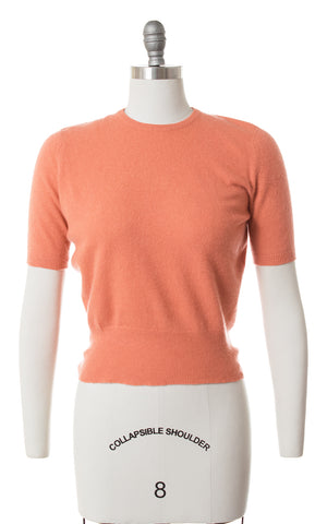 SOLD || 1950s Muted Burnt Orange Cashmere Sweater Top | small/medium