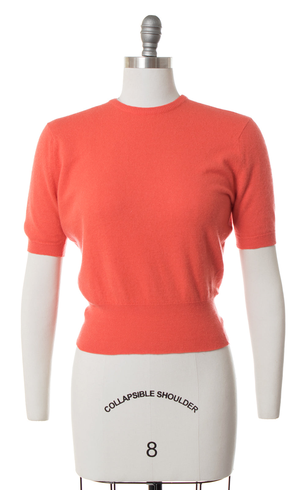 1950s Coral Cashmere Sweater Top | small/medium