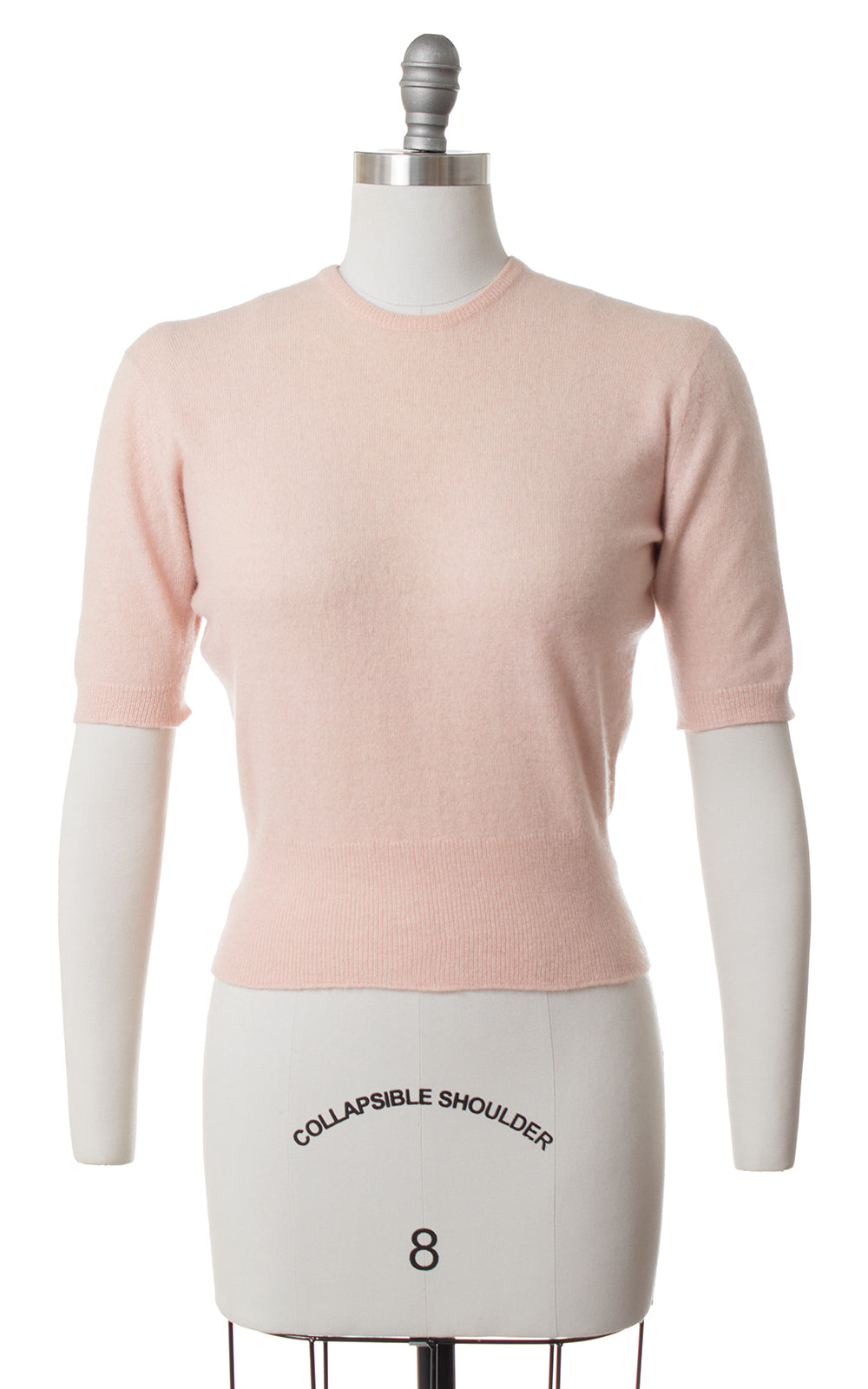 1950s Light Pink Cashmere Sweater Top | small/medium