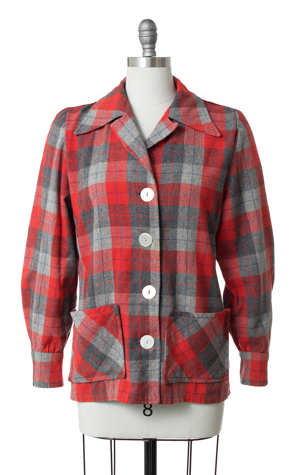 1950s Pendleton 49er Style Plaid Wool Jacket