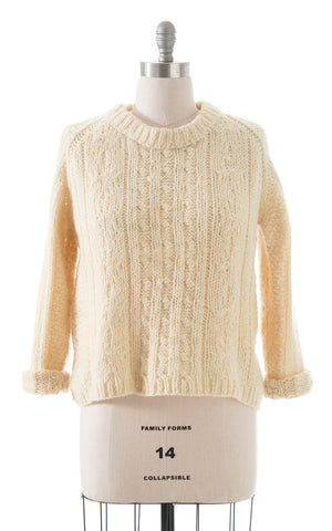 1980s Cable Knit Wool Sweater