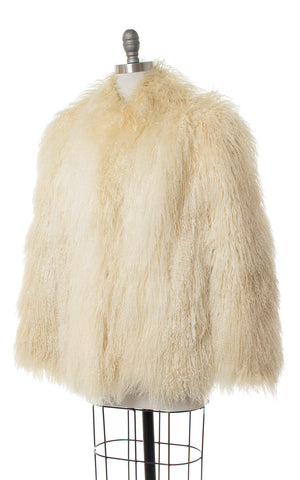 1970s Shaggy Mongolian Lamb Fur Coat