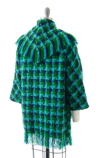 1960s Fringe Plaid Wool Jacket