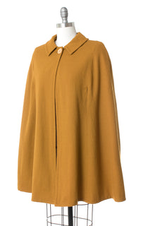1960s Mustard Yellow Wool Cape